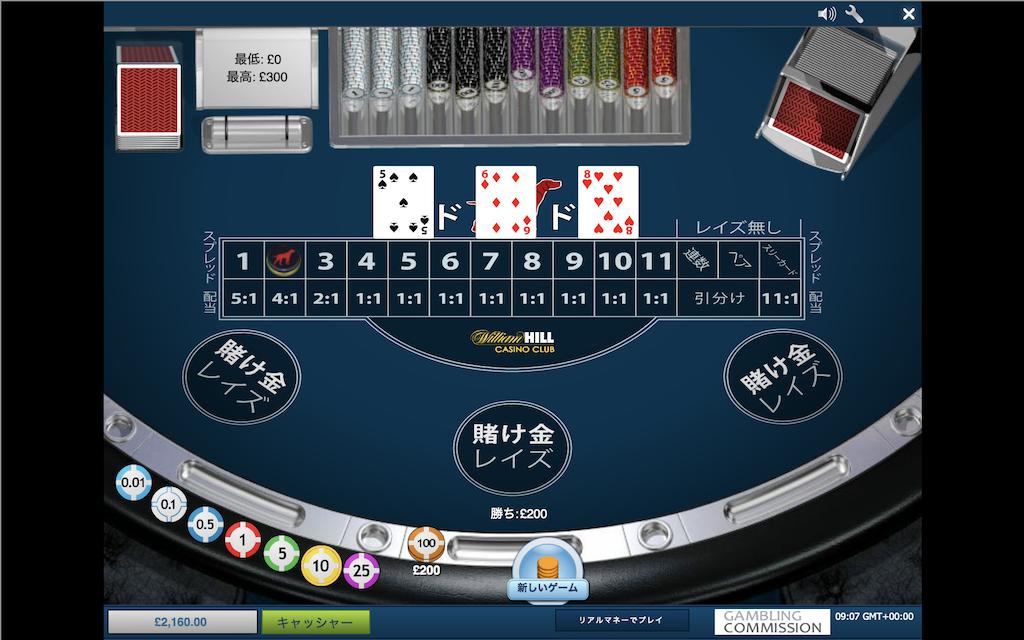 オンラインカジノのレッドドッグポーカー無料ゲーム