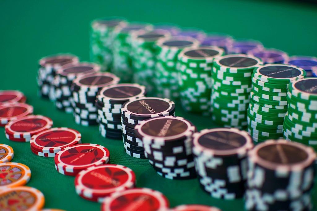 ポーカーやルーレット専用のチップ
