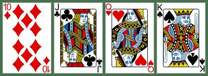 ブラックジャックのカードの点数説明1